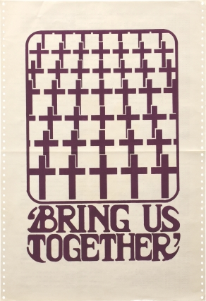 Bring Us Together (Original political protest poster, circa 1970). Anonymous