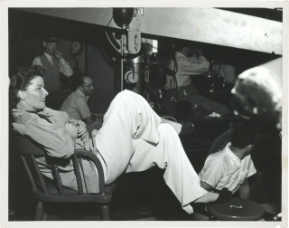 Adam's Rib (Original double weight photograph of Katharine Hepburn from the set of the 1949...