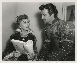 Quentin Durward (Original photograph of Robert Taylor and Kay Kendall from the set of the 1955...
