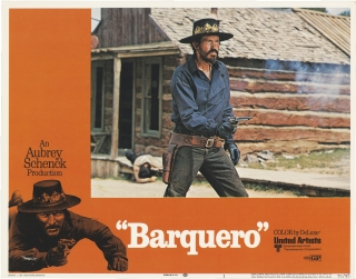 Barquero (Collection of eight original color lobby cards from the 1970 film). Gordon Douglas,...