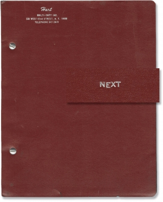 Next (Original script for the 1967 play). Elaine May, Terrence McNally, James Coco, director,...