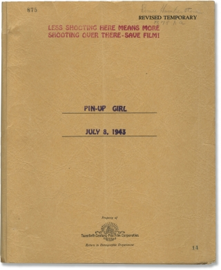 Pin-Up Girl (Original screenplay archive for the 1944 film, director Bruce Humberstone's copy)....