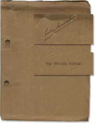 The Crimson Circle (Original screenplay from the 1936 film). Reginald Denham, Edgar Wallace,...