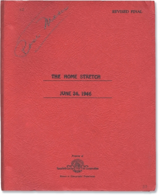 The Homestretch [The Home Stretch] (Original screenplay archive for the 1947 film). Maureen...