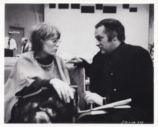 John and Mary (Original photograph of Mia Farrow and Peter Yates on the set of the 1969 film)....