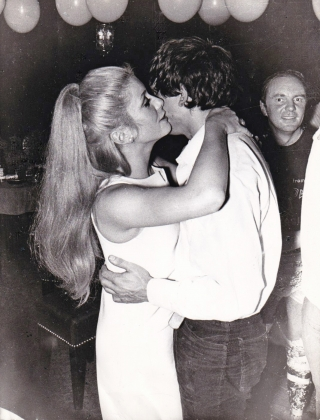 Collection of three original photographs of Catherine Deneuve and David Bailey dancing, circa...