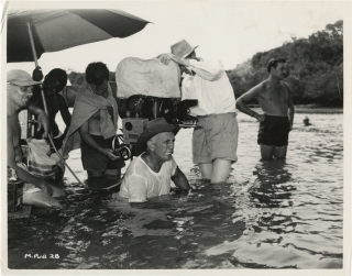 Beyond Mombasa (Original photograph of George Marshall, Freddie Young, and crew members on the...