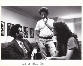 Barton Fink (Original photograph of John Turturro and the Coen brothers on the set of the 1991...