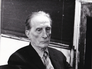 Original photograph of Marcel Duchamp, circa 1960s. Marcel Duchamp, Philippe Collin, subject,...