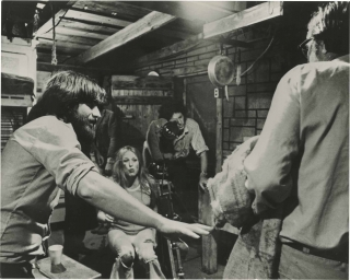 The Texas Chainsaw Massacre (Original photograph of Tobe Hooper and Marilyn Burns on the set of...