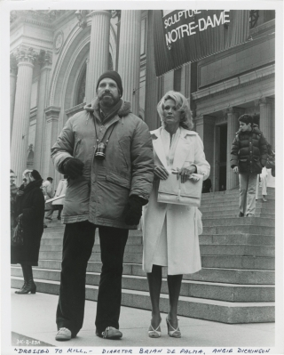Dressed to Kill (Original photograph of Brian De Palma and Angie Dickinson shot on location...