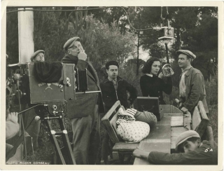 Toni (Original photograph of Celia Montalvan, Charles Blavette, and Jean Renoir on the set of the...