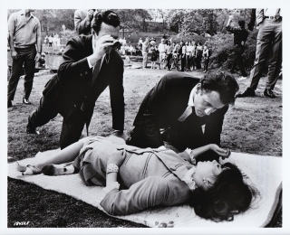Penelope (Original photograph of Arthur Hiller, Natalie Wood, and Ian Bannen on the set of the...