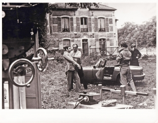 Weekend (Original photograph from the set of the 1967 film). Jean-Luc Godard, Jean Yanne Mireille...