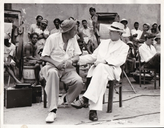 Outcast of the Islands (Original photograph of Carol Reed and Ralph Richardson on the set of the...