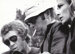 Le Mans (Original oversize photograph from the 1971 film). Steve McQueen, Siegfried Rauch Elga...