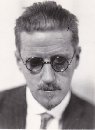 Photograph of James Joyce by Roger Viollet, circa 1930s. James Joyce, subject