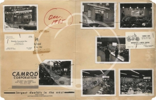 Archive of 42 original vernacular photographs of the Camrod motorcycle shop, 1967