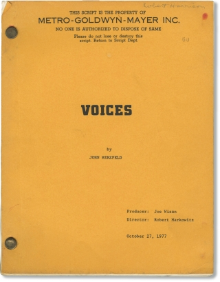 Voices (Original screenplay for the 1979 film). Robert Markowitz, John Herzfeld, Amy Irving...