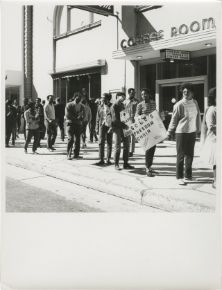 The Southern Christian Leadership Civil Rights March (Collection of five original photographs...