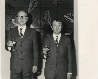 Original photograph of Gilbert and George, 1986. Gilbert Prousch, George Passmore, subjects