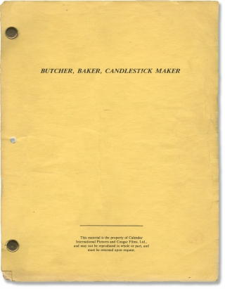 Scream [Butcher, Baker, Candlestick Maker] (Original screenplay for the 1981 film). Byron...