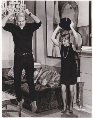 Sweet Charity (Original photograph of Bob Fosse and Shirley MacLaine on the set of the 1969...
