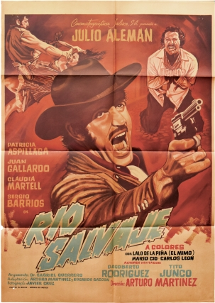 Rio Salvaje (Original poster for the 1971 film). Arturo Martinez, Gabriel Guerro Edgardo Gazcon,...