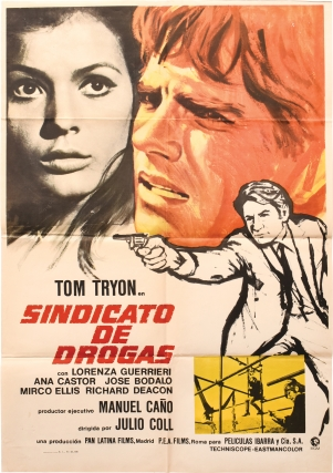 Persecucion hasta Valencia [Sindicato de drogas] (Original poster for the 1968 film). Julio Coll,...