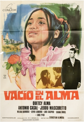 Vacio en el alma (Original poster for the 1971 film). Sebastian Almeida, H S. Valdes, Antonio...