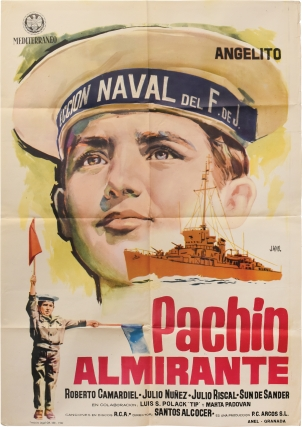 Panchin almirante (Original poster for the 1961 film). Santos Alcocer, Jose Gallardo Luis Lucas,...