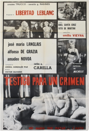 Violated Love [Testigo para un crimen] (Original poster for the 1963 film). Emilio Vierya, Abel...