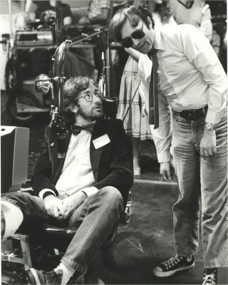 Gremlins (Original photograph of Joe Dante and Steven Spielberg on the set of the 1984 film). Joe...