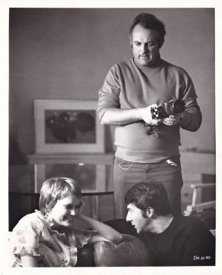 John and Mary (Original photograph of Mia Farrow, Dustin Hoffman, and Peter Yates on the set of...