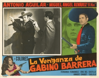 La venganza de Gabino Barrera (Collection of six original lobby cards for the 1971 film). Rene...