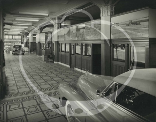 Archive of 20 oversize photographs of Buick auto dealerships, circa 1940s