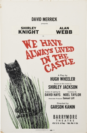 We Have Always Lived in the Castle (Original window card poster for the 1966 play). Shirley...