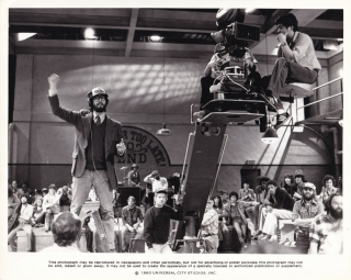 The Blues Brothers (Original photograph from the set of the 1978 film). John Landis, Dan Aykroyd,...