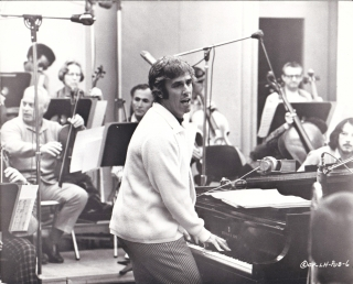 Original photograph of composer Burt Bacharach the recording studio, circa 1970s. Burt Bacharach,...
