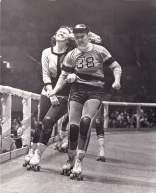 Derby [Roller Derby] (Collection of six original photographs from the 1970 documentary film)....