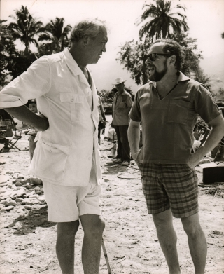 Night of the Iguana (Original photograph of John Huston and Tennessee Williams on the set of the...