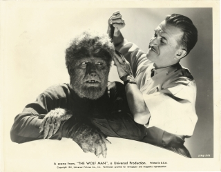 The Wolf Man (Original photograph from the 1941 film). George Waggner, Curt Siodmak, Claude Rains...