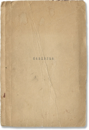 Caligula (Original English language script for the 1944 play). Albert Camus