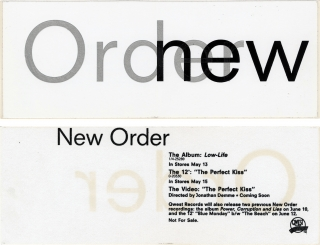 Low-Life (Original promotional sticker for the 1985 album). New Order