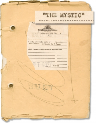 The Mystic (Original screenplay for the 1925 silent film). Tod Browning, Waldemar Young, Conway...