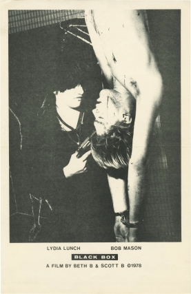 Black Box (Original poster for the 1978 film). Lydia Lunch, Bob Mason, Scott B. Beth B, starring,...