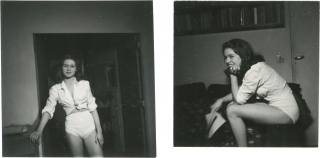 Collection of eight original photographs of a young Brigitte Bardot, three with Roger Vadim,...