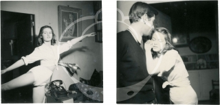 Collection of eight original photographs of a young Brigitte Bardot, three with Roger Vadim, circa early 1950s