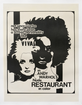 Nude Restaurant (Original poster for the 1967 film). Andy Warhol, Taylor Mead Viva, Andrew Duggan...