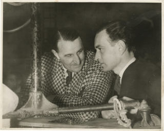 Great Expectations (Original photograph of David Lean and J. Arthur Rank on the set of the 1946...